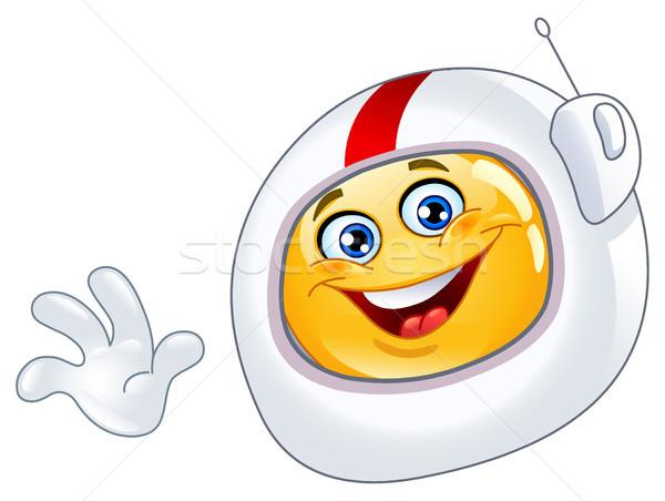 астронавт смайлик улыбка лице счастливым знак Сток-фото © yayayoyo