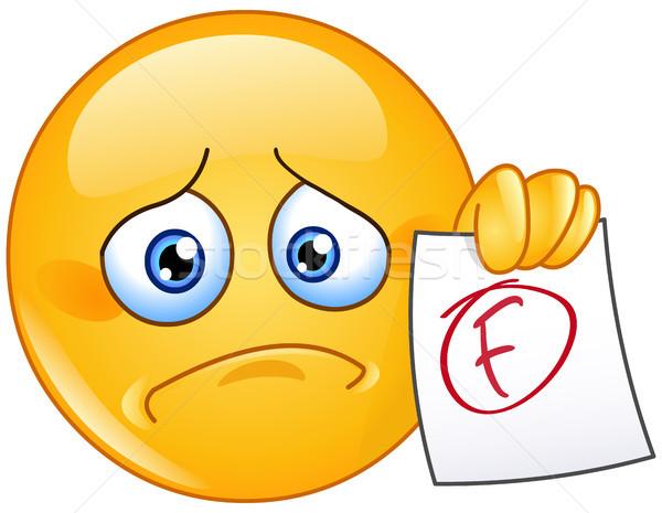 смайлик разочарованный бумаги провал человека Сток-фото © yayayoyo