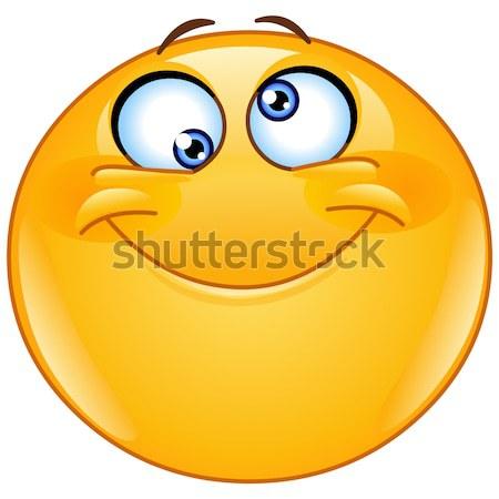смайлик компьютер лице счастливым солнце искусства Сток-фото © yayayoyo