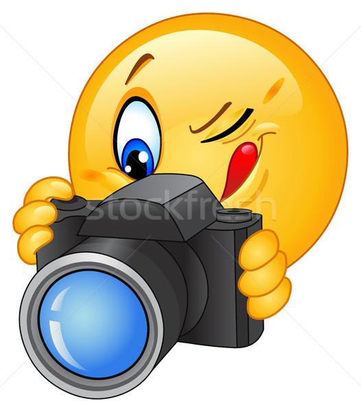 Camera emoticon Stock photo © yayayoyo
