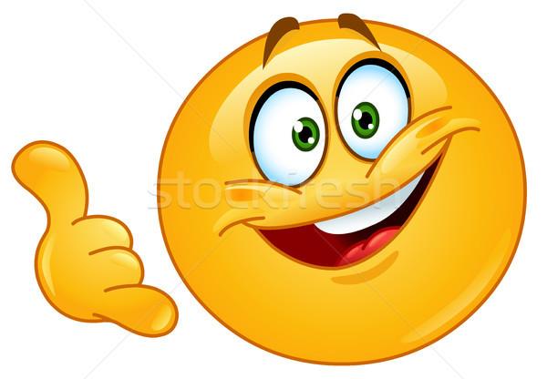 смайлик жест бизнеса улыбка Сток-фото © yayayoyo
