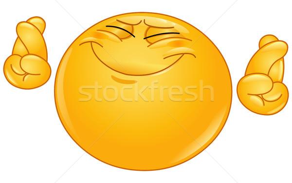 пальцы смайлик стороны улыбка человека Сток-фото © yayayoyo