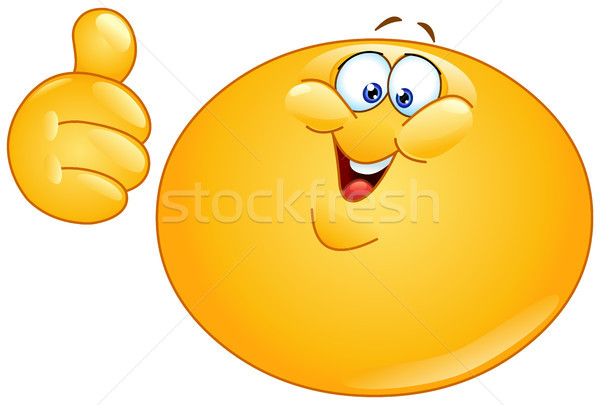 жира смайлик большой палец руки вверх улыбка Сток-фото © yayayoyo
