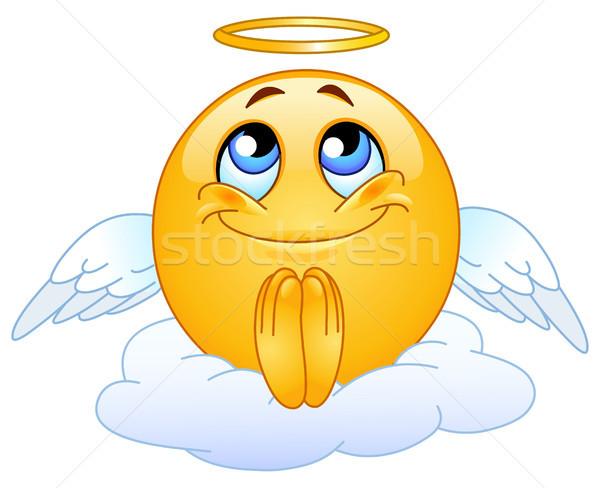 ангела смайлик небе улыбка лице счастливым Сток-фото © yayayoyo