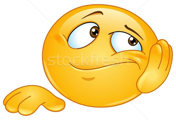 Vervelen emoticon gezicht werk teken baan Stockfoto © yayayoyo