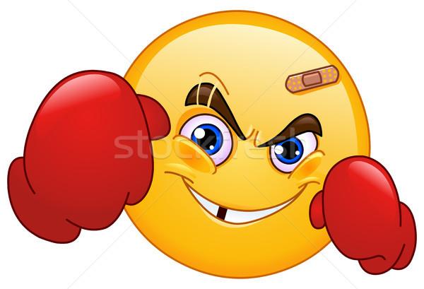 Boksör ifade gülümseme yüz mutlu spor Stok fotoğraf © yayayoyo