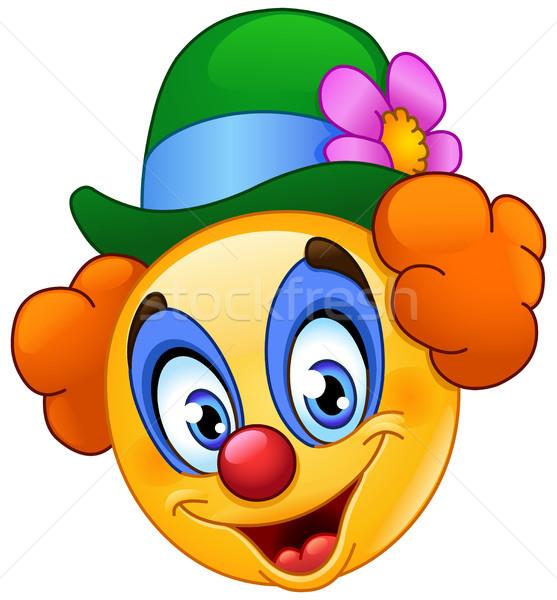 клоуна смайлик улыбка человека ребенка рождения Сток-фото © yayayoyo