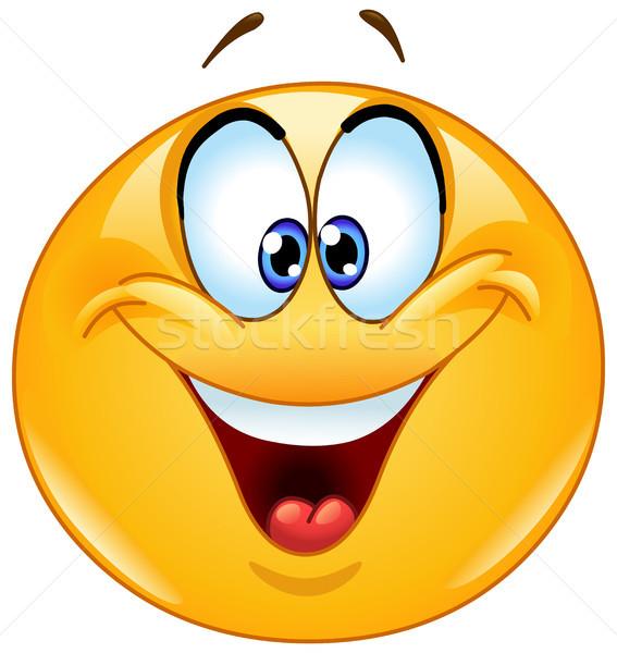 глазах смайлик счастливым человека дизайна весело Сток-фото © yayayoyo