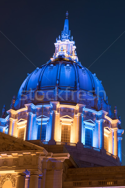 San Francisco City Hall in Golden State Warriors Colors. Stock photo © yhelfman