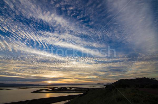 Zonsondergang San Francisco shot wildlife wolken zon Stockfoto © yhelfman