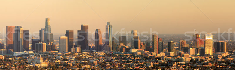 Los Angeles Panoramic Skyline Sunset Stock photo © yhelfman
