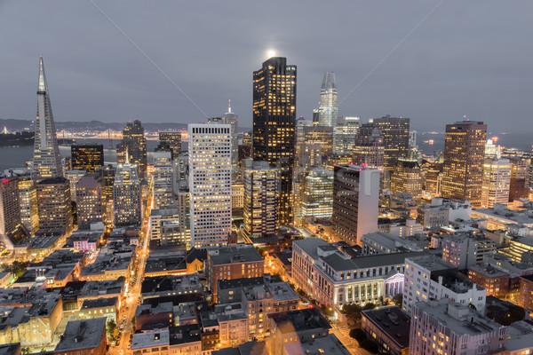 Сан-Франциско центра Финансовый район здании Сток-фото © yhelfman
