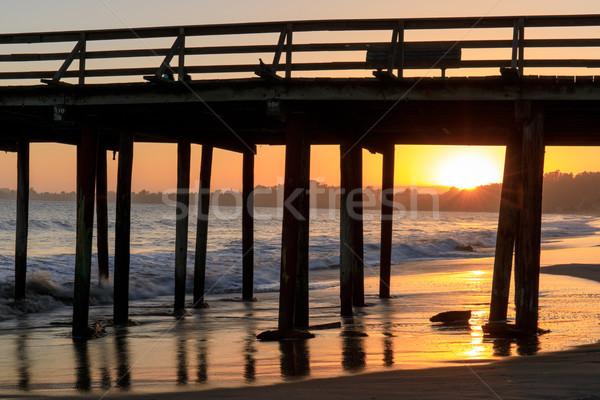 Sunset over Seacliff State Beach. Stock photo © yhelfman