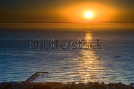 High Above Pacifica Municipal Pier. Stock photo © yhelfman