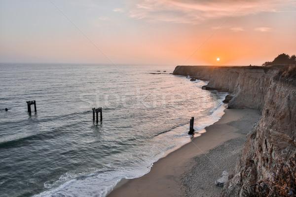 Stock fotó: Naplemente · móló · tengerpart · elhagyatott · mikulás · Kalifornia