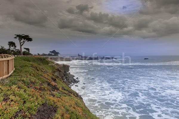 West Cliff Drive Coastline Views on a winter storm. Stock photo © yhelfman