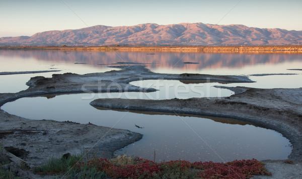 Coucher du soleil Californie photo sentier regarder mission Photo stock © yhelfman