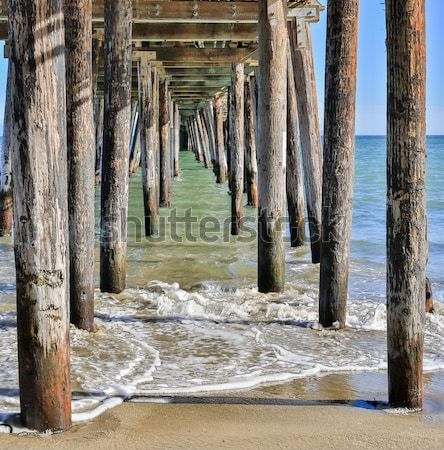 Under The Boardwalk Down by the Sea. Stock photo © yhelfman