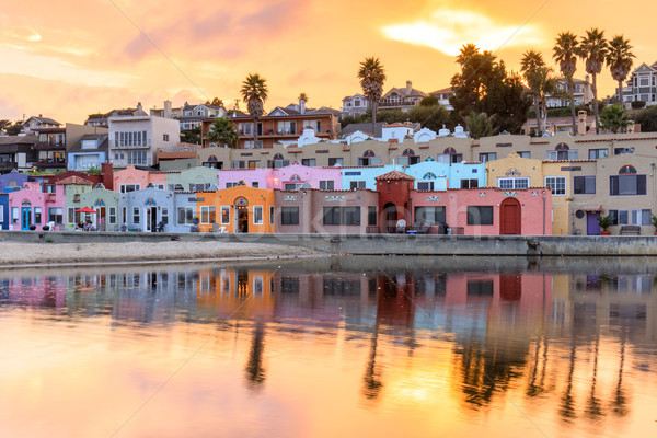 Capitola Village Sunset Vibrancy. Stock photo © yhelfman