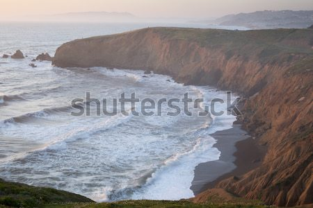 Sunset at Mori Point, Pacifica, San Mateo County, California Stock photo © yhelfman