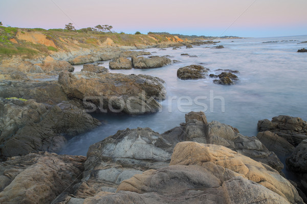 Dusk over Bean Hollow State Beach, Pescadero, California, USA Stock photo © yhelfman