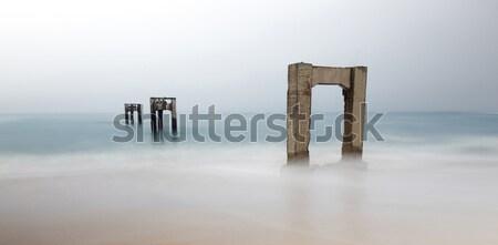 Abandonat dig plajă tipic vară zi Imagine de stoc © yhelfman