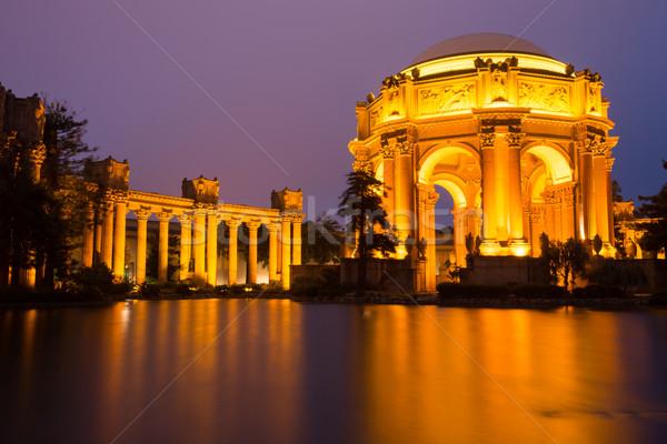 宮殿 芸術 サンフランシスコ 夕暮れ マリーナ 地区 ストックフォト © yhelfman