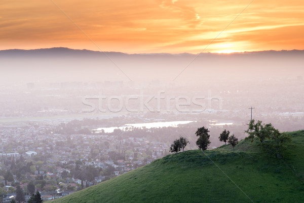 Breathtaking Silicon Valley Sunset Stock photo © yhelfman