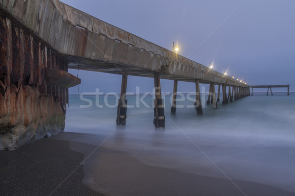 Under Pacifica Municipal Pier at Dusk. Stock photo © yhelfman