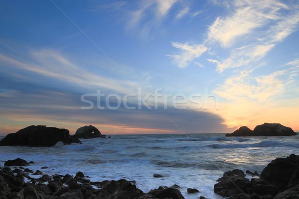 Pacific Ocean Sunset, Sutro Baths, San Francisco, California Stock photo © yhelfman
