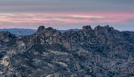 Sunset over High Peaks of Pinnacles National Park, California, USA Stock photo © yhelfman