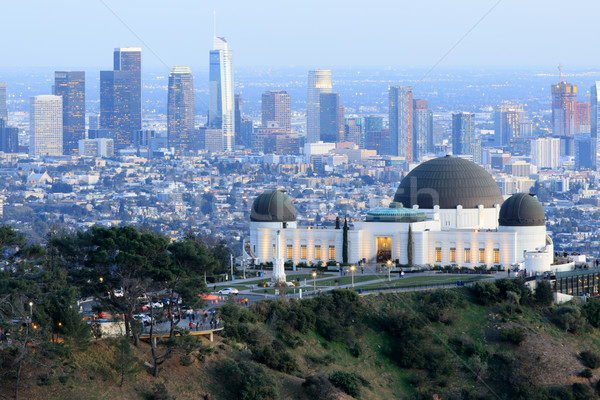 Park Los Angeles skyline schemering schemering beroemd Stockfoto © yhelfman