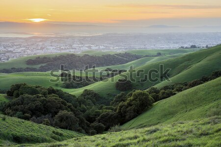 sonnenuntergang san francisco erschossen bach pionier natur stock foto yuval. Black Bedroom Furniture Sets. Home Design Ideas