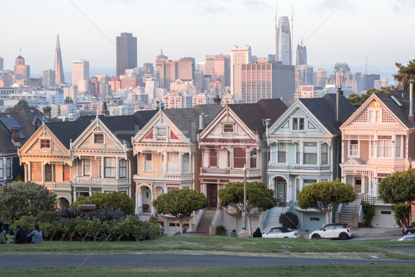 Sunset Over The Painted Ladies Stock photo © yhelfman