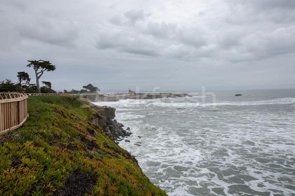 海 西 崖 サンタクロース カリフォルニア 灯台 ストックフォト © yhelfman