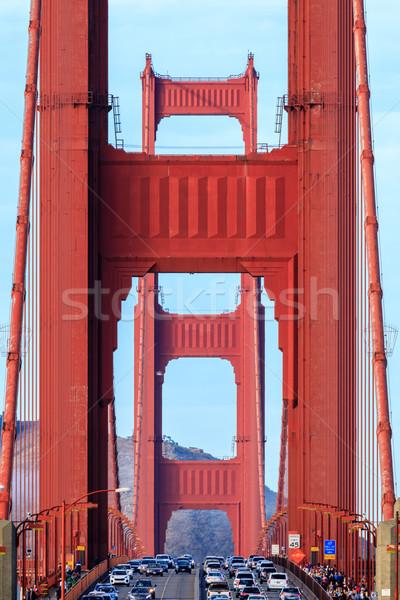 Golden Gate Bridge primer plano mirando norte San Francisco California Foto stock © yhelfman