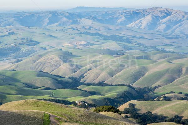 Klasyczny wzgórza California misji szczyt miasta Zdjęcia stock © yhelfman