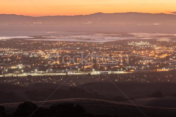 Crépuscule silicium vallée photo parc San Francisco Photo stock © yhelfman