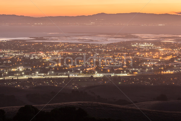 Akşam karanlığı silikon vadi fotoğraf park San Francisco Stok fotoğraf © yhelfman