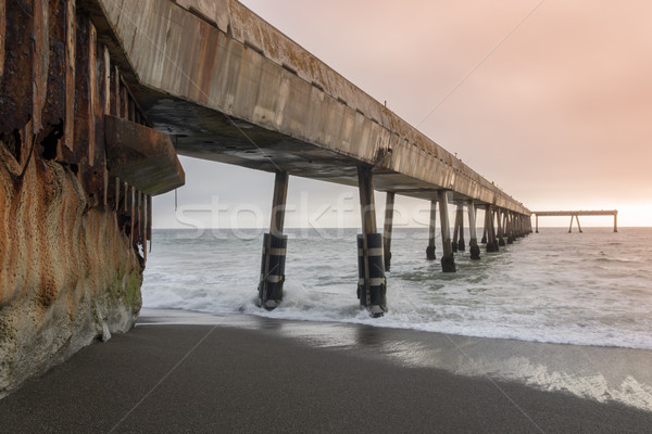 Under Pacifica Municipal Pier at Sunset. Stock photo © yhelfman