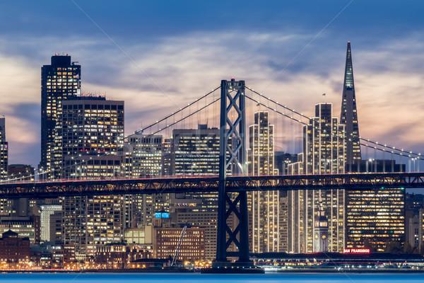橋 タウン サンフランシスコ クローズアップ ショット 真ん中 ストックフォト © yhelfman