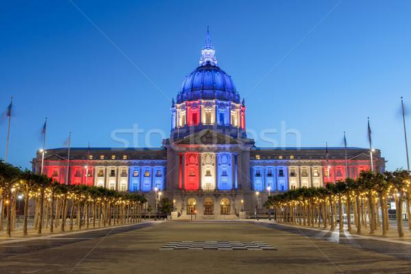San Francisco stad hal verlicht dag kleuren Stockfoto © yhelfman