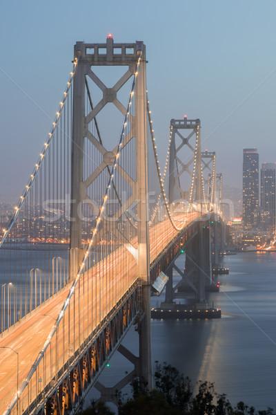 Köprü akşam ada araba Stok fotoğraf © yhelfman
