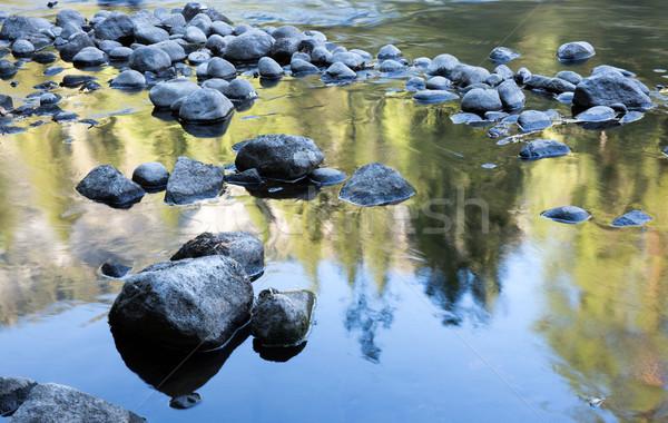 Río reflexiones parque nacional de yosemite California tarde tarde Foto stock © yhelfman