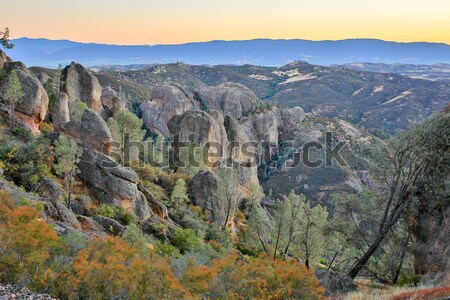 Dusk over Pinnacles National Park, California, USA Stock photo © yhelfman