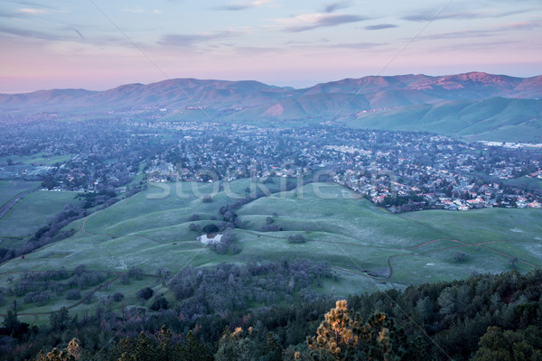Sunset at Mt. Diablo State Park, Contra Costa County, California Stock photo © yhelfman