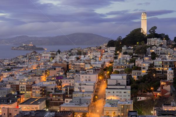 Telegraph Hill and North Beach Neighborhoods Stock photo © yhelfman