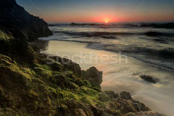 Pescadero State Beach Sunset Stock photo © yhelfman