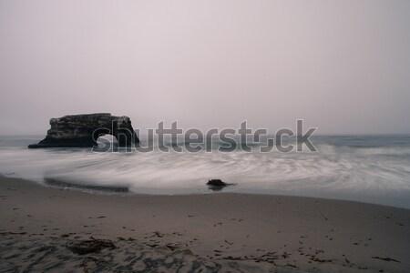 Overcast Dusk at Natural Bridges State Beach. Stock photo © yhelfman