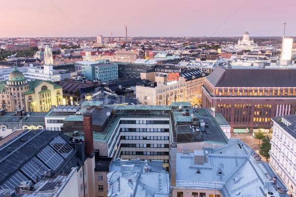 夕暮れ 屋根 セントラル 見える ポイント ストックフォト © yhelfman